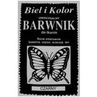 Barwnik do tkanin farba z motylem CZARNY
