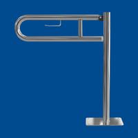Uchwyt Uchylny WC dla Niepełnosprawnych wolnostojący z zawieszką na papier 75cm stal nierdzewna fi32