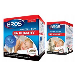 Elektrofumigator + płyn na komary Bros 40 ml + zapas 40 ml