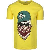 T-Shirt Męski Bawełniana Koszulka od Neidio Maska TS2017 Żółty XL
