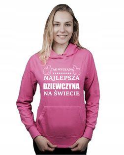 Bluza kangur NAJLEPSZA DZIEWCZYNA NA ŚWIECIE M