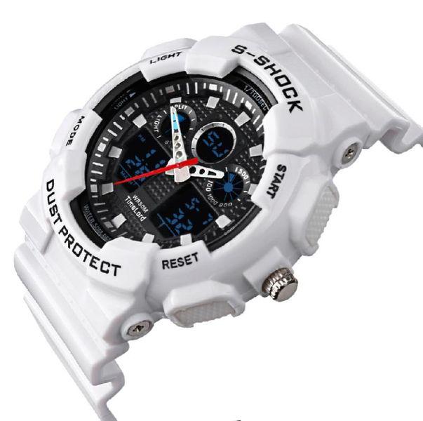 Męski Elektroniczny Zegarek S-SHOCK Trzy Kolory Biały Czerwony Czarny zdjęcie 7