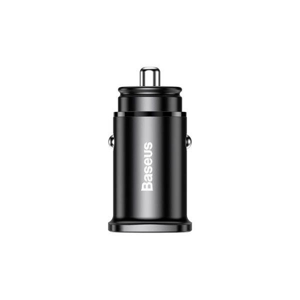 Baseus Square - Ładowarka samochodowa USB-A QC 4.0 + USB-C PD 3.0 30 W (czarny) zdjęcie 1