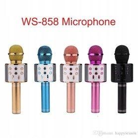 Bezprzewodowy mikrofon karaoke WS858 Kolor - Różowy