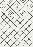 Dywan Shaggy Eco Komfort Mila 120X170 Biały Szary Romby Krata