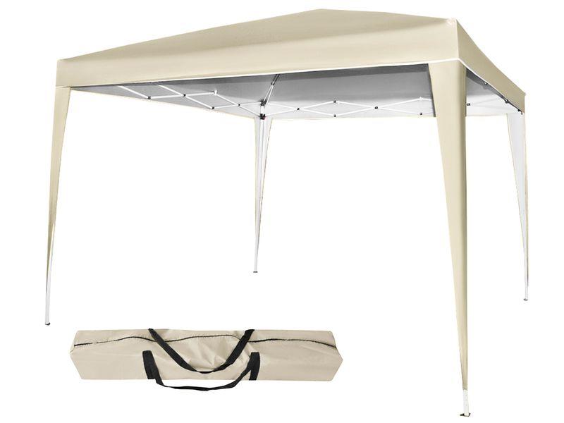 Pawilon Ogrodowy Namiot Składany Ekspresowy 3x3m Beżowy 5528 zdjęcie 1
