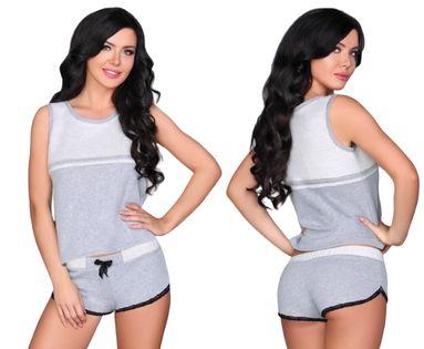 Piżama szara top krótkie spodenki Aliyya L/XL