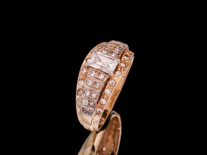 P482 Złoty pierścionek z cyrkoniami 585