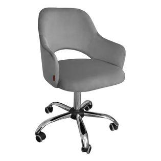 Fotel obrotowy MARCY / ciemny szary / noga chrom / BL14