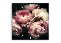 Zegar Ścienny - Róża Kwiaty Retro - 50X50 Cm - C3Ac50X50-3930