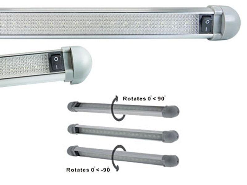 Lampa 10 LED SMD obrotowa z wł do wnętrza kabina TIR BUS Jacht 12v 24v na Arena.pl