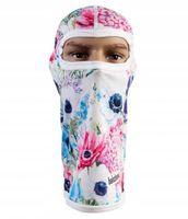 Kominiarka termoaktywna ciepła-3d-pastelowe kwiaty