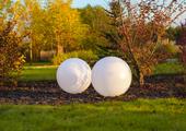 Kula ogrodowa Era 40cm solarna kula dekoracyjna z żywicy poliestrowej zdjęcie 1