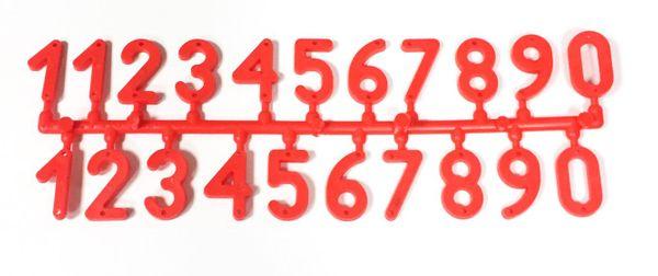 Numerki do znakowania uli CZERWONE