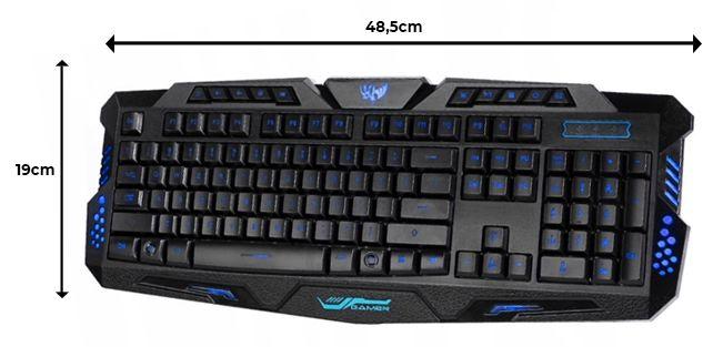 Podświetlana Klawiatura gamingowa dla graczy LED M166 zdjęcie 5