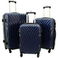 Zestaw 3 walizek PELLUCCI RGL 760 Granatowe