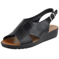 Czarne Sandały damskie Nessi 18373 buty R.37