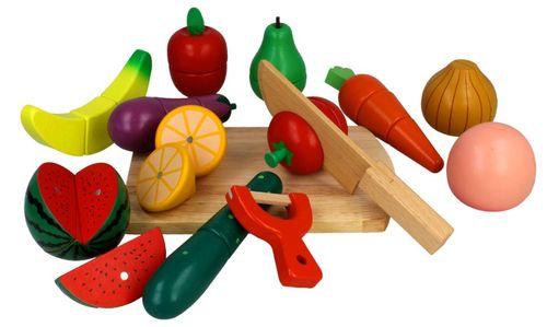 Zestaw drewniane warzywa i owoce do krojenia na magnes Z211 na Arena.pl
