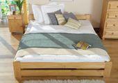 łóżko 140x200 NIWA ze stelażem OLCHA
