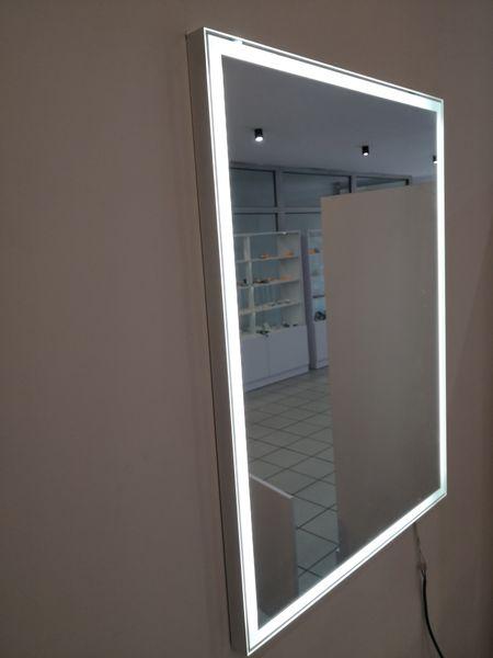 Lustro Led W Ramie 70x50 Podświetlane 230v 3barwy Do Wizażu łazienki