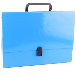 Teczka z rączką A4 10cm tekturowa błękitna