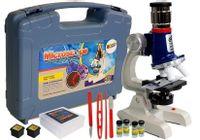 Duża Walizka Naukowca Mikroskop Dziecięcy Edukacyjny 100X 400X 1200X
