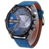 Zegarek męski, Oulm, 5 kolorów, dwa czasy, wodoszczelny, duży i modny
