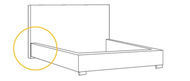 Łóżko Tapicerowane MARII 160x200+ Stelaż zdjęcie 3