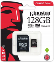 KARTA MICROSD KINGSTON 128GB CLASS 10 + ADAPTER