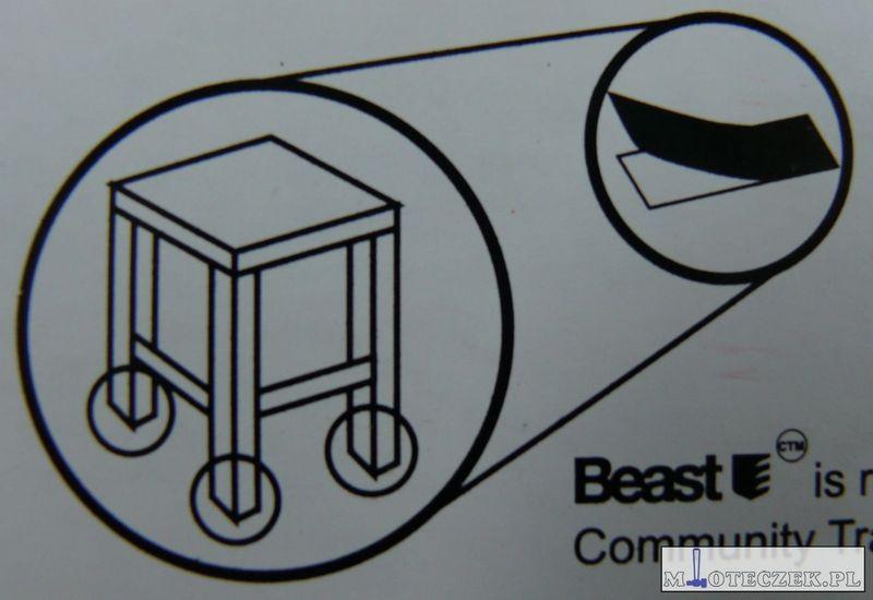 Arkusz filcu podkładki pod meble 200x150mm brąz zdjęcie 6