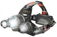 Latarka czołowa 3x LED CREE Regulowana Opaska O160