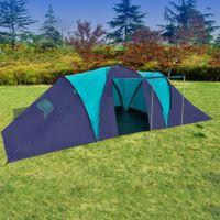 Namiot Turystyczny Dla 9 Osób, Granatowo-Niebieski