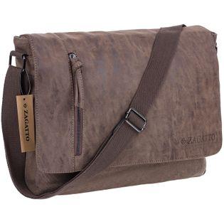 Duża torba na ramię marki Zagatto ZG4527 BROWN