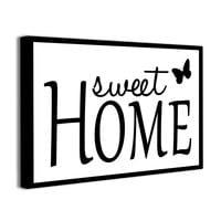 Obraz na płótnie z napisami SWEET HOME obrazki z cytatem canvas napisy