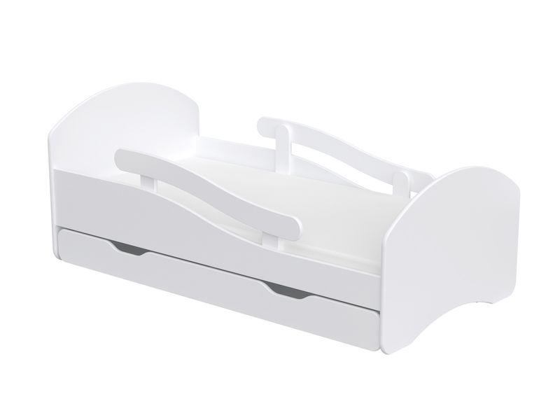 Łóżko dziecięce łóżeczko 140x70 białe szuflada materac dla dziecka zdjęcie 1