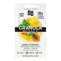 Aa Granola Bowls Zabieg Odżywczo-Nawilżający Nutri Peeling+Maska Cera Sucha I Odwodniona 2X4Ml