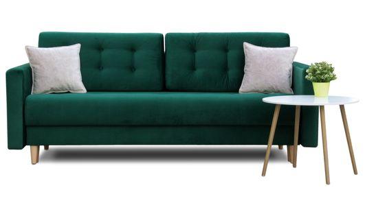 Skandynawska sofa BJORN kanapa rozkładana z funkcją spania pojemnik