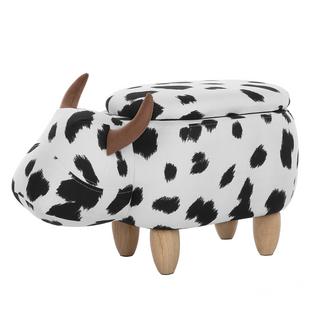 Pufa Zwierzak Ze Schowkiem Czarno-Biała Cow