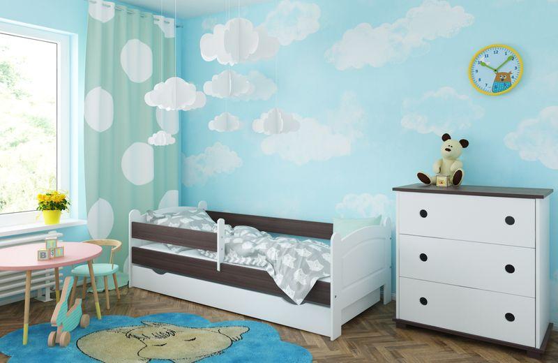 Łóżko AMELIA 140x80 szuflada + barierka zabezpieczająca + MATERAC zdjęcie 5