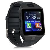 CZARNY zegarek smartwatch DZ09 aparat sim karta pamięci