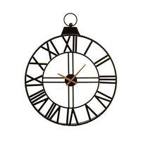 Zegar Ścienny Czarny Czarny (74 x 8 x 60 cm)