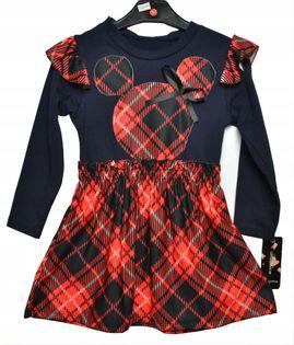 Sukienka Miki krata roz.140