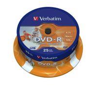 Verbatim DVD-R 16x 4.7GB 25P CB PRINTABLE 43538