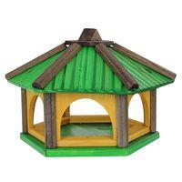 Karmnik dla ptaków Drew-Handel K50Z/D 50cm Zielony karmnik wykonany z drewna iglastego odpornego na warunki atmosferyczne