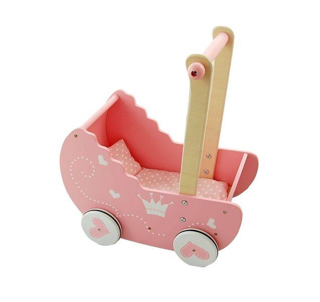 Drewniany wózek dla lalek zdjęcie 5
