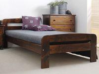 Łóżko Drewniane 90 Klaudia kolory olcha/dąb/orzech