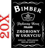 20 ETYKIETY NA BIMBER wódkę naklejki alkohol