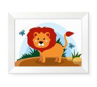 Nowoczesne obrazy obrazki ze zwierzętami dla dzieci dziecka LEW