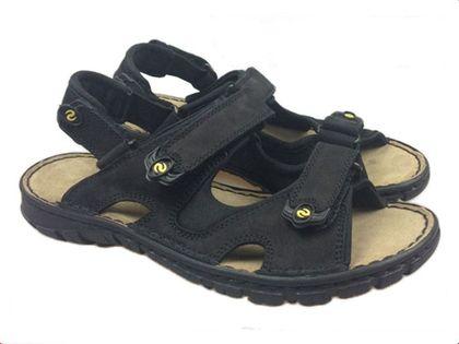 Sandały LESTA 1133 czarny Rozmiar obuwia - 41, Kolor - Czarny