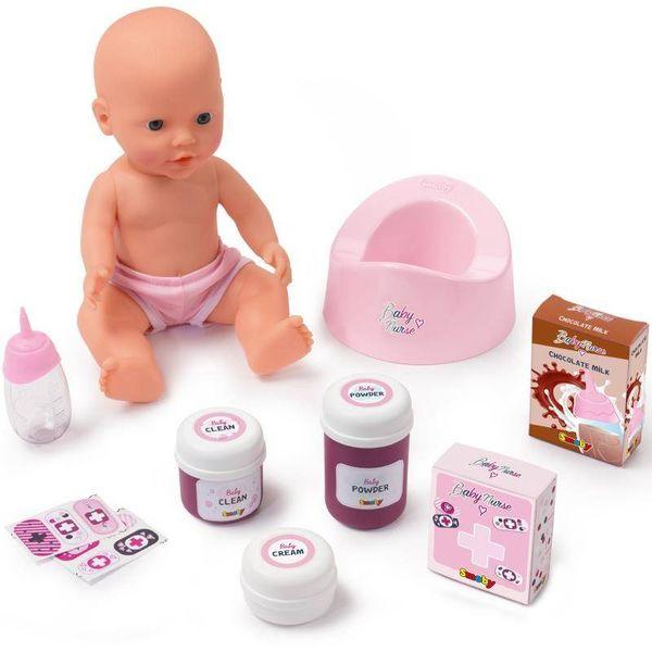 Smoby Baby Nurse Łóżeczko 2w1 Dla Lalki Przewijak + Lalka na Arena.pl